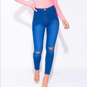 Blue Asphalt Bright Blue Jeans/Jeggings